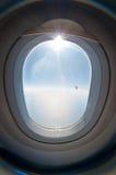 Hublot d'ovale d'aéronefs Image libre de droits