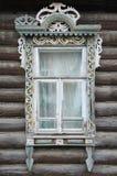 Hublot d'une vieille maison russe photo libre de droits