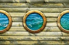 Hublot de bateau Photographie stock