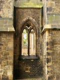 Hublot de cathédrale gothique Photos stock