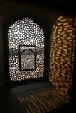 Hublot de configuration au tombeau de Humayun, Delhi Photos libres de droits