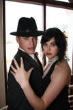 Hublot de couples de tango Image libre de droits