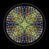 Hublot de croix en verre souillé image stock