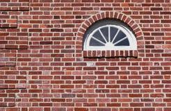Hublot de Fanlight dans la maison historique Image stock