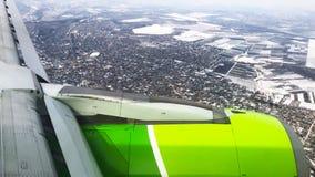 Hublot de fenêtre de vue d'avion clips vidéos