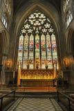 Hublot de haut autel, cathédrale de Ripon Photographie stock libre de droits