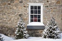 Hublot de l'hiver Photo libre de droits