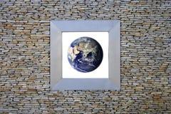 Hublot de la terre (Asie) images libres de droits