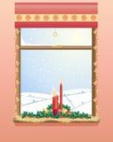 Hublot de Noël illustration stock
