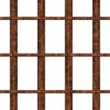 Hublot de prison avec les bars rouillés Photographie stock libre de droits