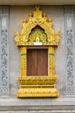 Hublot de temple thaï Images libres de droits
