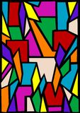 Hublot de verre coloré Images libres de droits