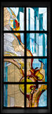 Hublot de verre coloré Photographie stock libre de droits
