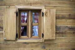 Hublot en bois Photographie stock