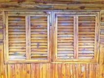 Hublot en bois Photo libre de droits