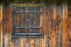Hublot en bois fermé Photo libre de droits