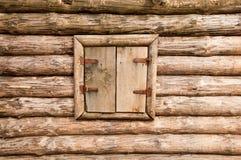 Hublot en bois fermé Image stock