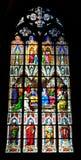 Hublot en verre souillé, cathédrale de Cologne Image libre de droits