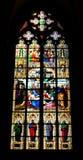 Hublot en verre souillé, cathédrale de Cologne Images libres de droits