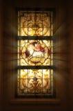 Hublot en verre souillé d'église Photographie stock libre de droits