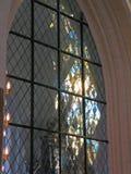 Hublot en verre souillé d'église Images libres de droits
