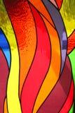 Hublot en verre souillé dans l'église Photo libre de droits