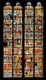 Hublot en verre souillé de cathédrale de Cologne Image libre de droits