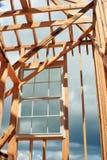 Hublot encadré par construction Image libre de droits