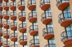 Hublot et balcon Photographie stock