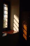 Hublot et ombre d'éclairage   Photographie stock