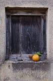 Hublot et orange Photo stock