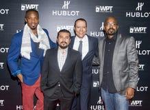 Hublot meddelar att partnerskap med världspoker turnerar Royaltyfri Foto