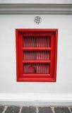 Hublot rouge Photographie stock libre de droits