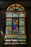 hublot souillé par glace d'église Photographie stock