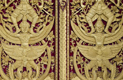 Hublot thaï de temple image stock