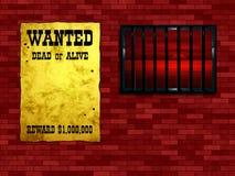 Hublot treillagé de prison illustration stock