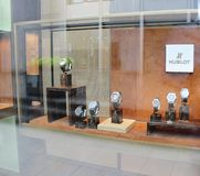 Hublot Watch Store Window Display. Hublot Luxurious Watch Store Window Display Royalty Free Stock Photography