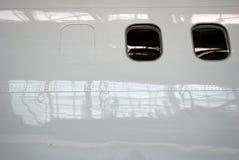 Hublots d'aéronefs Image stock