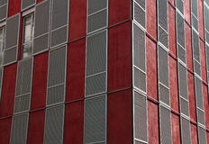 hublots rouges de construction Images stock