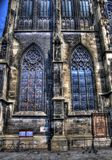 hublots souillés par saint de verre de l'église s stephen Images stock