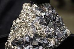 Hubnerite pyrite quartz black Stock Image