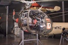 Hubschrauber Aerospatiale S A Gazelle 341F u. x28; 1967& x29; im Museum O Lizenzfreie Stockfotografie