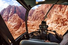 Hubschrauber auf Berg Horeb Lizenzfreies Stockbild