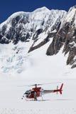 Hubschrauber auf Fox-Gletscher Lizenzfreie Stockbilder