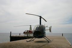 Hubschrauber auf Taste Stockfotografie