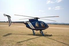Hubschrauber aus den Grund Stockfoto