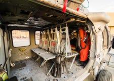 Hubschrauber Blackhawk - Innenansicht Stockbilder