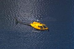 Hubschrauber, der Halden Stadt fotografiert Stockbilder