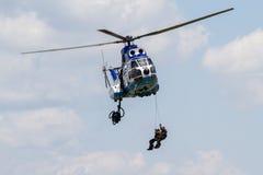 Hubschrauber an der NEIGUNG Lizenzfreie Stockfotografie
