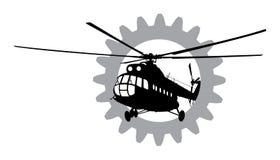 Hubschrauber des Schattenbildes Lizenzfreie Stockbilder